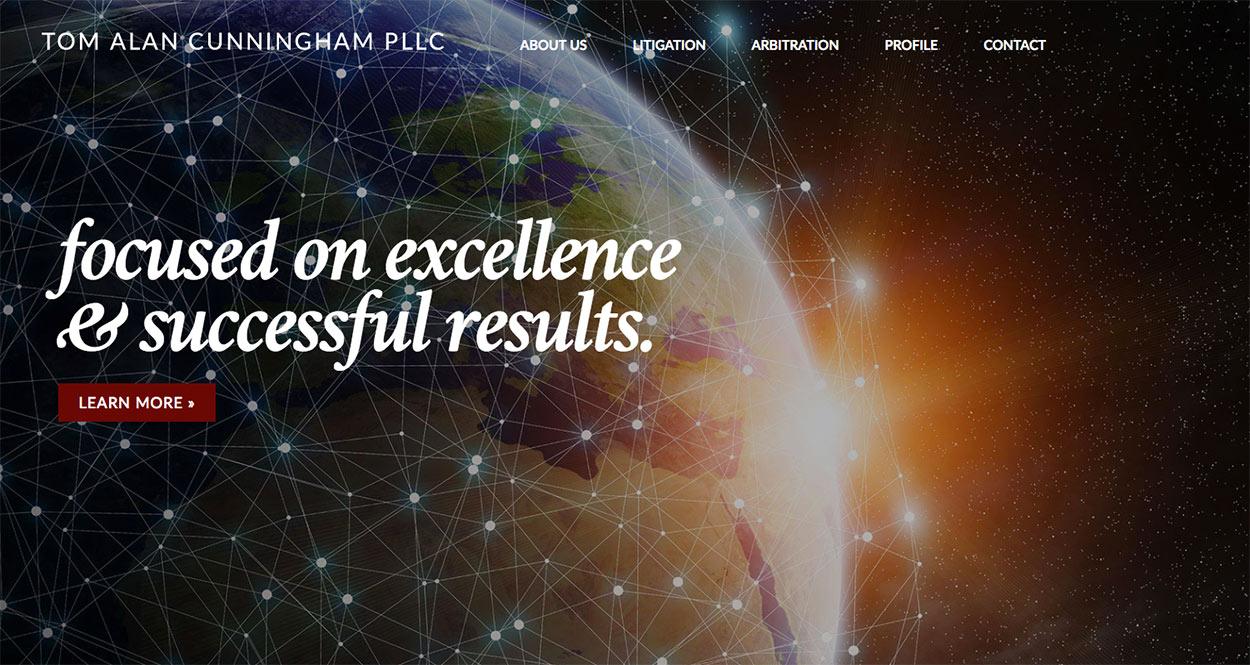 Law Firm Website Design Redo for Tom Cunningham Complete